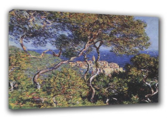 Monet, Claude: Bordighera. Coastal Landscape Fine Art Canvas. Sizes: A3/A2/A1 (00751)